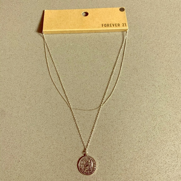 Forever 21 Jewelry - Forever 21 Silver Layering Pennant Necklace